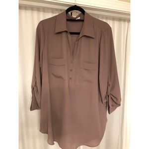 3/4 Sleeve Button Blouse